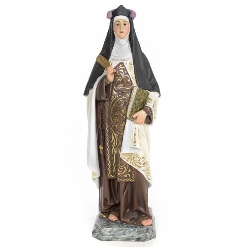 Santa Teresa di Gesù 60 cm pasta di legno dec. elegante s1