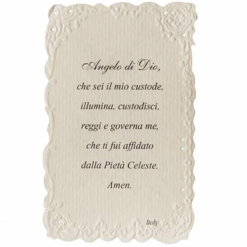 Santino Angelo Custode con preghiera s2