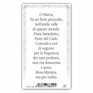 Santino Maria Rosa Mistica 10x5 cm ITA s2