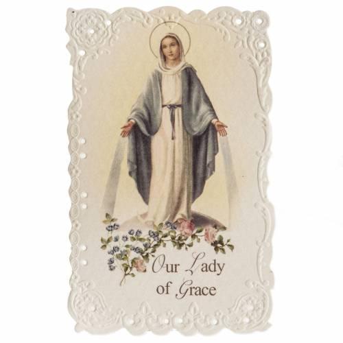 Santino Our Lady of Grace con preghiera (inglese) s1
