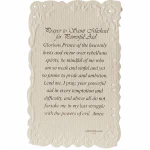 Santino Saint Michael con preghiera (inglese) s2