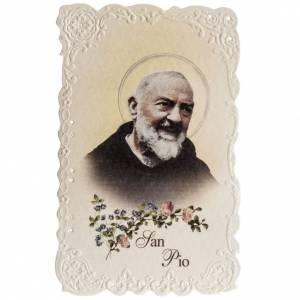 Santino San Pio da Pietrelcina con preghiera s1