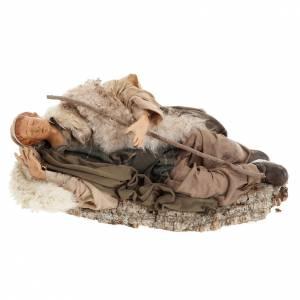 Santon berger endormi 30 cm crèche Napolitaine s1