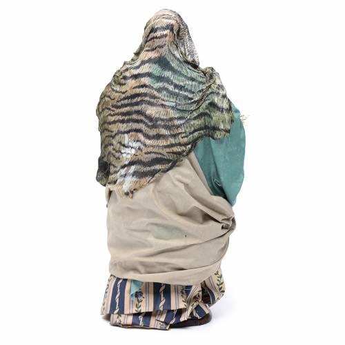 Santon crèche Napolitaine femme avec panier 30 cm s4