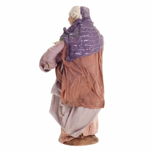 Santon femme avec panier de fruits 30 cm crèche Naples s6