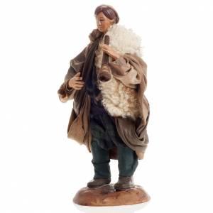 Santon joueur de flûte 18 cm crèche Napolitaine s2