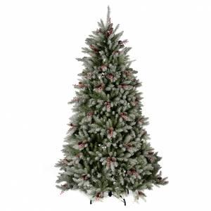Sapins de Noël: Sapin de Noël 210 cm enneigé baies pommes pin Dunhill