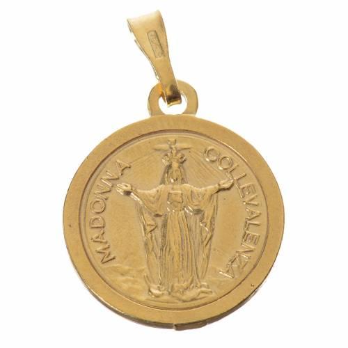 Scapulaire argent 800 doré diam 2 cm s1