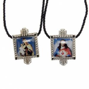 Scapular in metal with color images s1