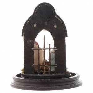Scena natività stile arabo campana di vetro 20x15 cm presepe Napoli s5