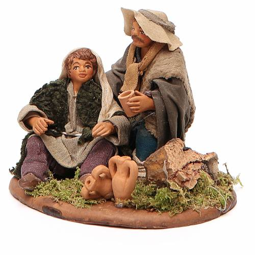 Scene of mercy, Neapolitan nativity figurine 10cm s2