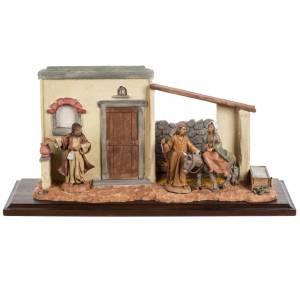 Statues en résine et PVC: Scène recherche d'un logement 12 cm Fontanini