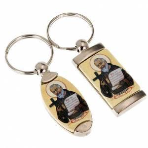 Schlüsselringe: Schluesselanhaenger Metall Heilig Padre Pio