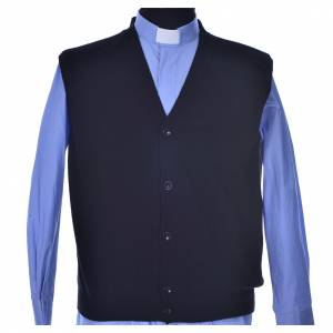 Jacken, Westen, Pullover: Schwarze Weste 100% Kaschmirwolle