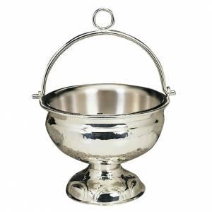 accessoires pour bénédictions: Seau à eau bénite argenté ou doré