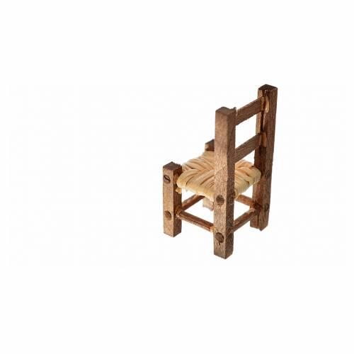 Sedia presepe impagliata 3,2x1,5x1,5 cm s2