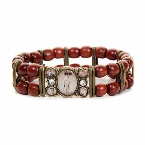 Sepia and strass multi-image bracelet s6