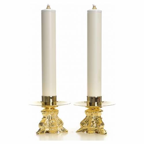 Set complet chandeliers baroques et bougies s1