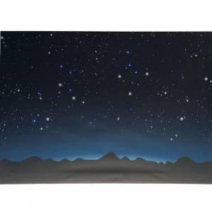 Sfondi presepe, paesaggi e pannelli: Sfondo presepe luminoso led cielo e montagne 70x50cm
