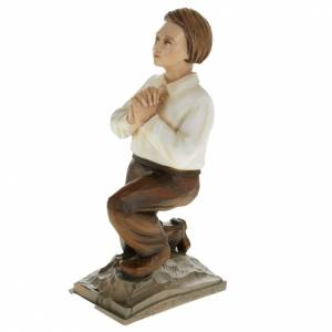 Fiberglass statues: Shepherd children of Fatimain reconstituted marble 35 cm