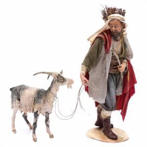 Shepherd with goat 30cm Angela Tripi s1