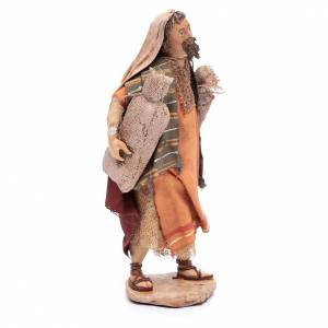 Shepherd with sacks, 13cm by Angela Tripi s4