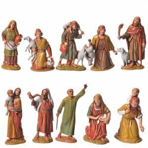 Shepherds, 10 nativity figurines, 6.5cm Moranduzzo s1