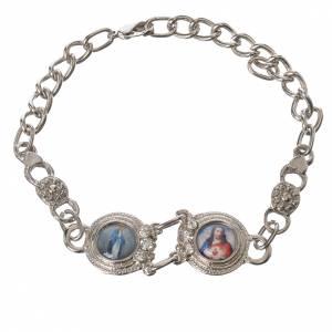Religiöse metallische Armbänder  mit Bilder: Silbrigten Armband Maria und Jesus