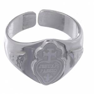 Prayer rings: Silver adjustable ring with cross and heart