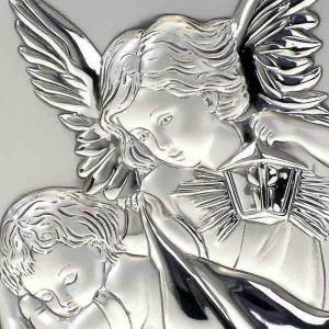 Silver Bas Relief Guardian Angel, oval s4