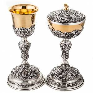 Metal Chalices Ciborium Patens: Silver chalice and ciborium tables of the Law