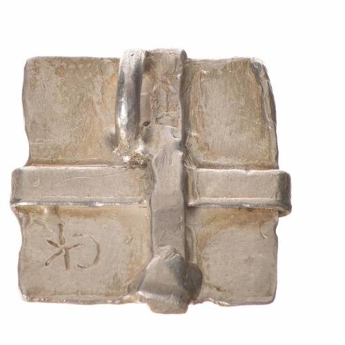 Silver cross pendant, square in sterling silver s2