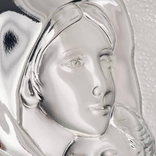 Silver rectangular Bas Relief Madonna del Ferruzzi s4