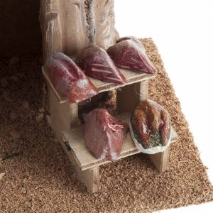 Settings, houses, workshops, wells: Small butcher store for nativities
