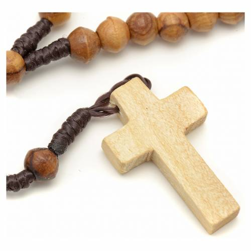 Small rosary Holy land olive wood 6 mm s1