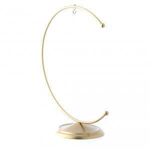 Soporte de metal dorado para bola de Navidad 150 mm s2