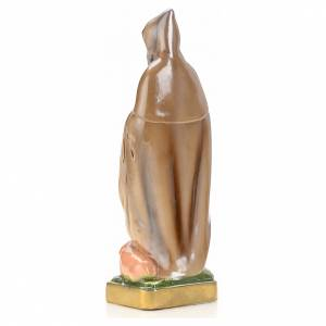 St Antony the Great statue in plaster and pearlized colors, 20 c s4
