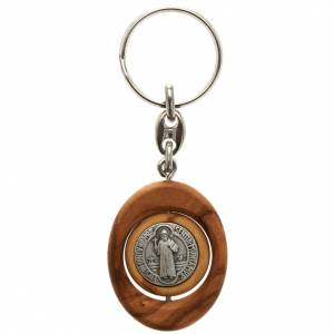 St. Benedict revolving medal key-ring oval shaped s1