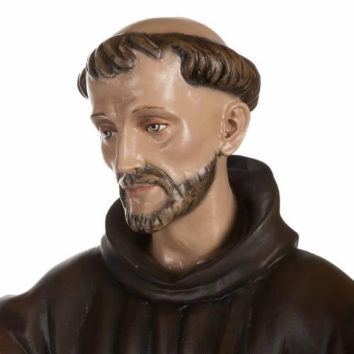 St Francis with dove fiberglass statue 100 cm s6
