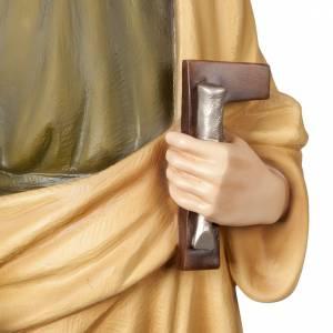 St Joseph travailleur marbre reconstitué 100cm colorée s3