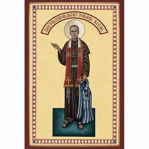 St. Maximilian Kolbe Holy Card s1