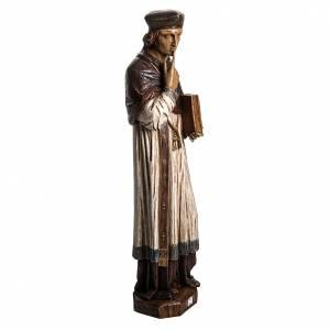 Statue in pietra: St. Yves (Ivo) pietra finitura legno 63 cm