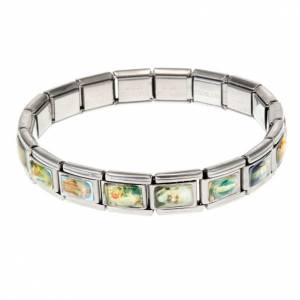 Stainless steel elastic saint bracelet s1