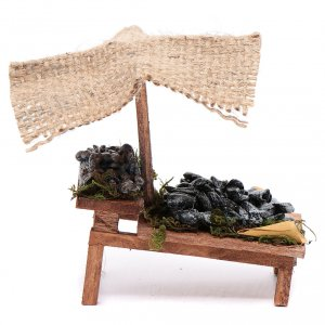 Miniature food: Stall with mussels for DIY nativities