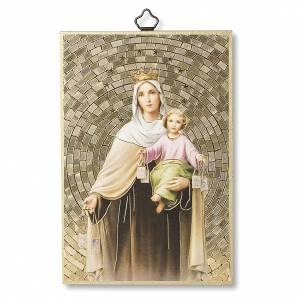 Stampa su legno Madonna del Carmelo Preghiera Madonna del Carmine ITA s1
