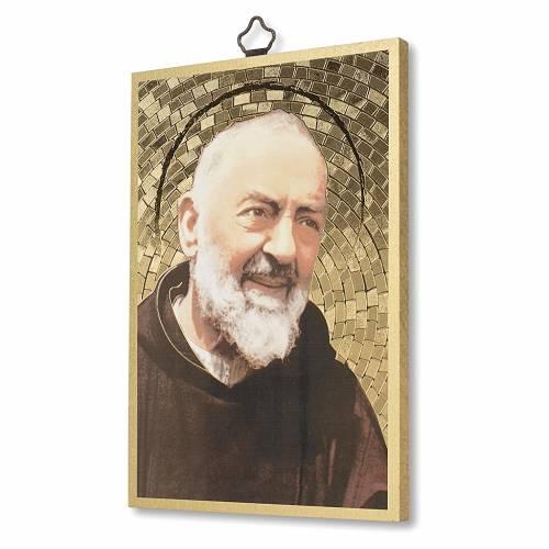 Stampa su legno Padre Pio Preghiera a Padre Pio ITA s2