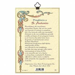 Stampa su legno Sant'Antonio da Padova Preghiera ITA s3