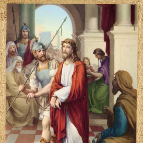 Stations of the Cross printed on wood framed, 15 station s2
