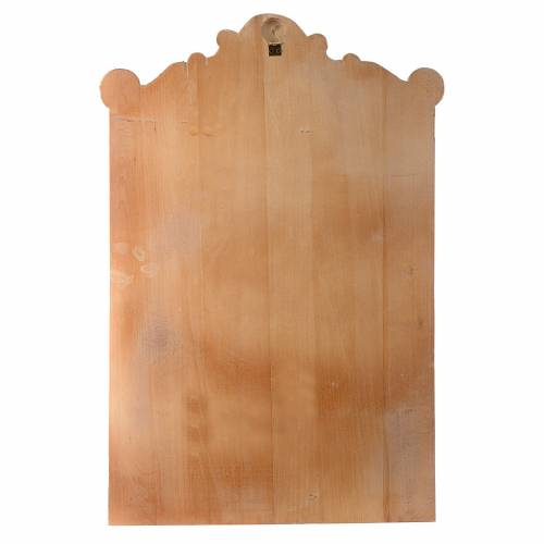 Stations of the Cross wooden relief, painted s17