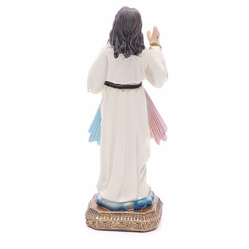 Statua Gesù Misericordioso 10,5 cm resina s2